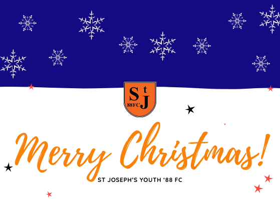 Merry Christmas from all at St Joseph's Youth '88 FC